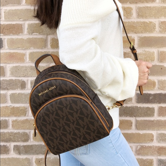 Michael Kors Abbey Mini BackpackBrown Extra Small Boutique
